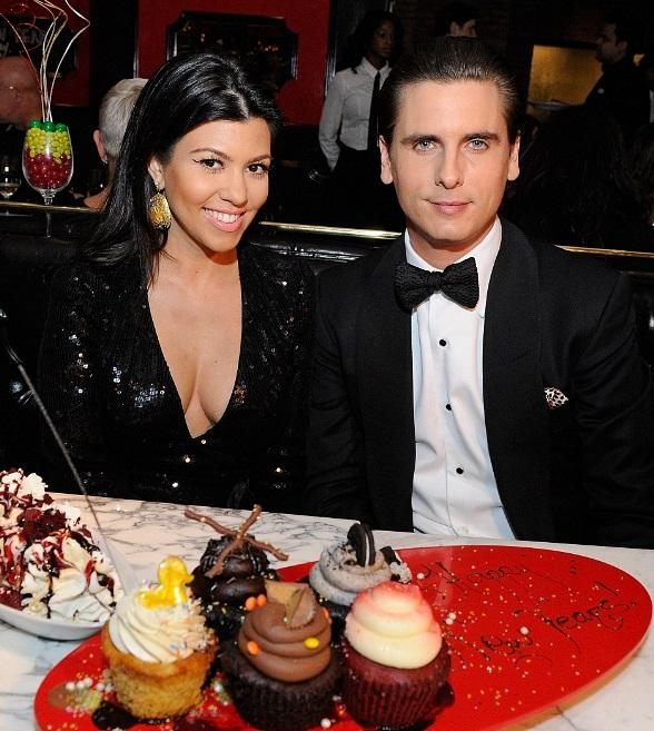 Scott Disick and Kourtney Kardashian enjoying Sugar Factory's decadent desserts