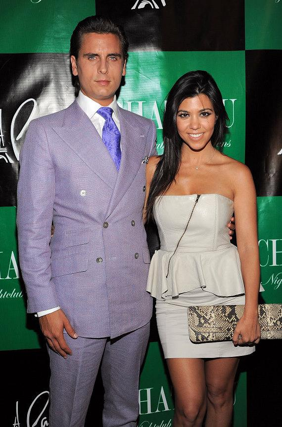 Scott Disick and Kourtney Kardashian at Chateau Nightclub