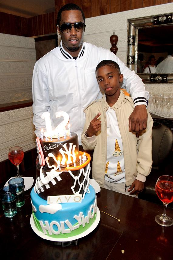 Sean Diddy Combs & son Christian at LAVO