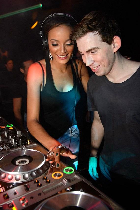 Selita Ebanks and Hardwell at Hakkasan Las Vegas
