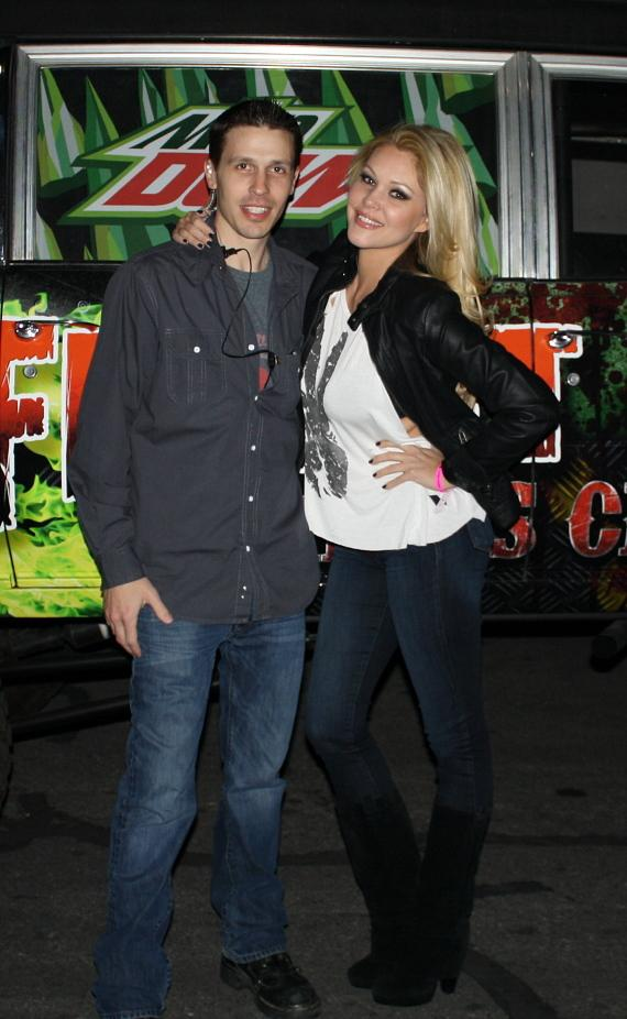 Shanna Moakler with Jason Egan at Fright Dome