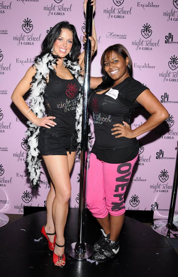 Shar Jackson Takes Night School 4 Girls Stripper/Pole Dancing Class at Excalibur