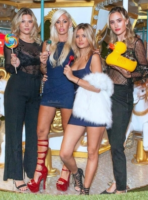 Actress and Model Shauna Sand Celebrates Birthday at Sugar Factory American Brasserie at Fashion Show in Las Vegas