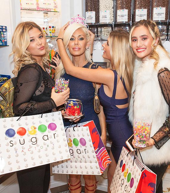 Shauna Sand's daughters crown their mom the birthday queen at Sugar Factory Las Vegas