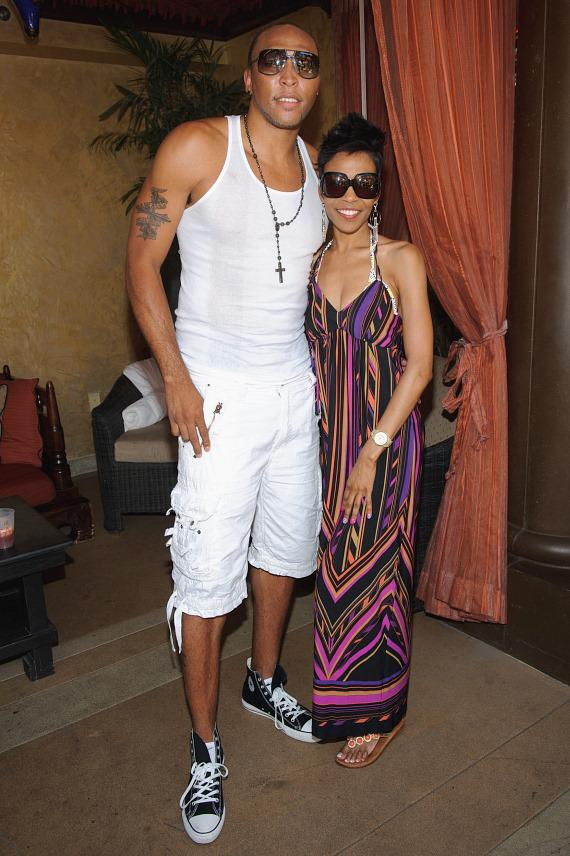 Shawn Marion and Michelle Williams at TAO Beach