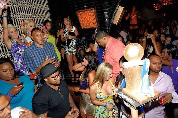 Shawn Marion Celebrates Dallas Mavericks NBA Championship Win at LAVO