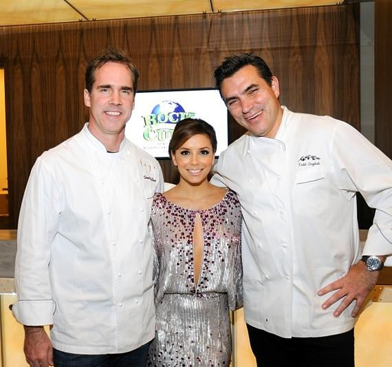Shawn McClain, Eva Longoria-Parker and Todd English at Nevada Cancer Institute's Rock for the Cure Las Vegas