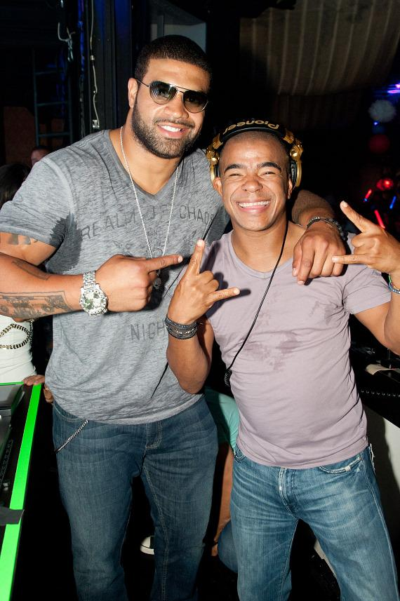 Shawne Merriman and Erick Morillo at Marquee
