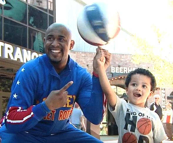 VIDEO: Harlem Globetrotter Scooter Christensen makes Historic Trick Shot at T-Mobile Arena