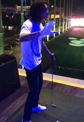 Wiz Khalifa Plays Golf at Topgolf Las Vegas