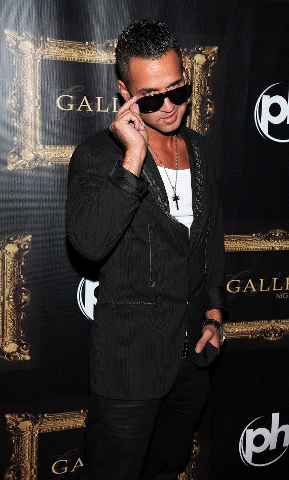 "Mike ""The Situation"" Sorrentino on the red carpet at Gallery Nightclub"