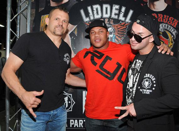 UFC fighter Chuck Liddell, Mr. Olympia Phil Heath and Mike 'The Situation' Sorrentino