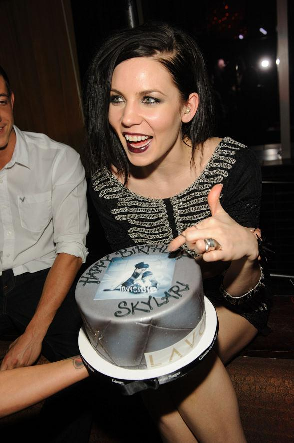 Skylar Grey with birthday cake at LAVO