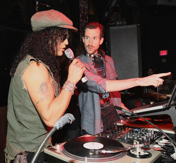 Slash and DJ Ross One at TAO