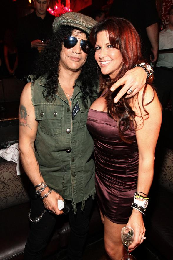 Slash and wife Perla at TAO