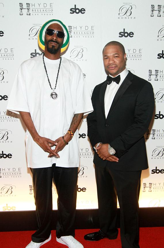 Snoop Dogg and Xzibit on red carpet at Hyde Bellagio