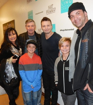 "Britney Spears' sons attend ""Mat Franco - Magic Reinvented Nightly"" at The LINQ Hotel & Casino"