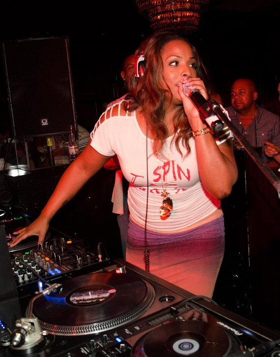Spinderella celebrates 40th birthday at LAVO's Old School Wednesday
