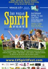 Las Vegas Spirit Fest, The Largest Christian Faith-Based Festival in Nevada, to be held at Desert Breeze Park April 9