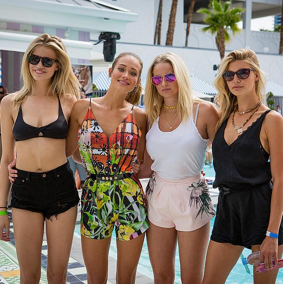 Sports Illustrated Models Hailey Clauson, Hannah Davis,  Genevieve Morton and Kelly Rohrbach