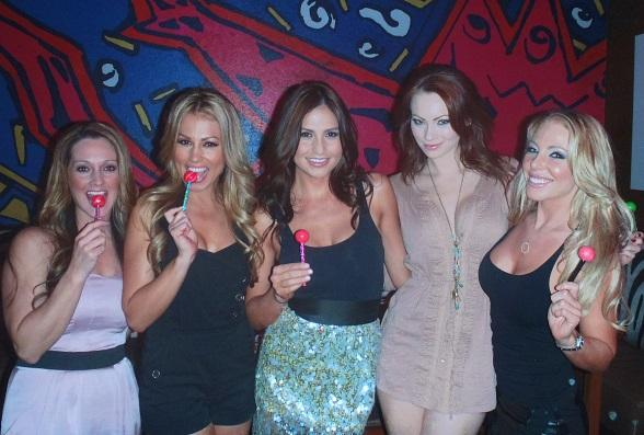 Stacie Hall celebrating her birthday at Cabo Wabo Cantina with and Playmate Kimberly Phillips and Playboys' Cybergirl Jessica Hall