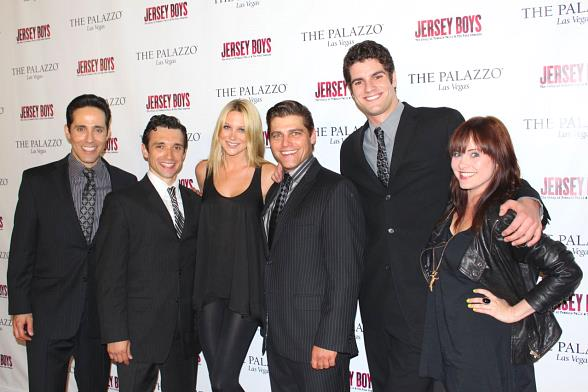 "From left to right: Jeff Leibow, Rick Faugno, ""The Hills"" star Stephanie Pratt, Deven May, Peter Saide, Heather Weiss"