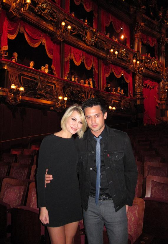 Stephen Colletti and Chelsea Kane at Phantom: The Las Vegas Spectacular