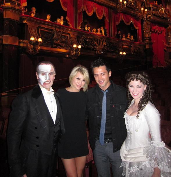 Anthony Crivello (Phantom), Chelsea Kane, Stephen Colletti and Kristen Hertzenberg (Christine)