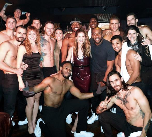 "Stephen ""tWitch"" Boss and Allison Holker Attend ""Magic Mike Live Las Vegas"" at Hard Rock Hotel & Casino"