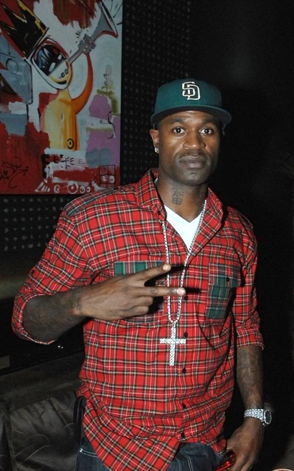 Stephen Jackson of the Charlotte Bobcats at Blush Boutique Nightclub