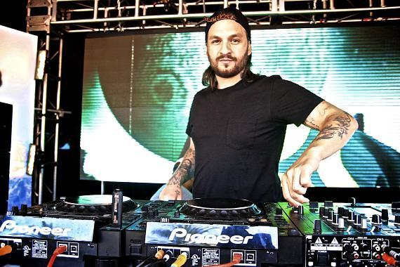 Steve Angello on the tables at Encore Beach Club