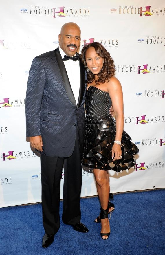 Steve and Marjorie Harvey at 2010 Hoodie Awards