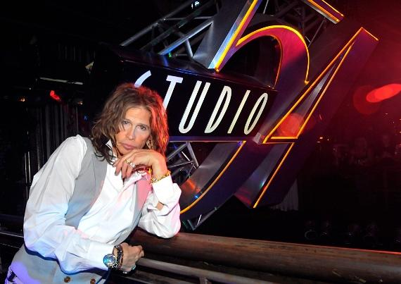 Steven Tyler lounges at Studio 54
