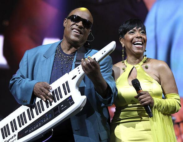 Stevie Wonder and Shirley Strawberry