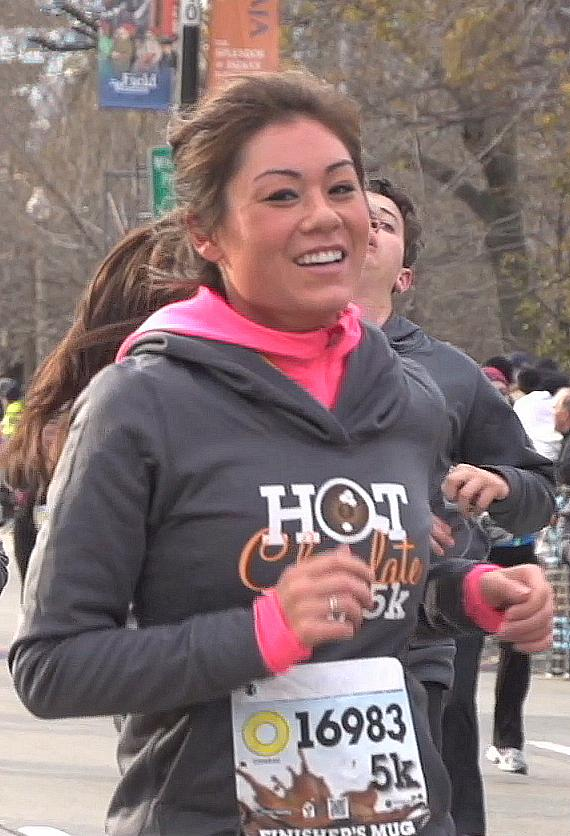 A runner in the Hot Chocolate 15k/5k Race