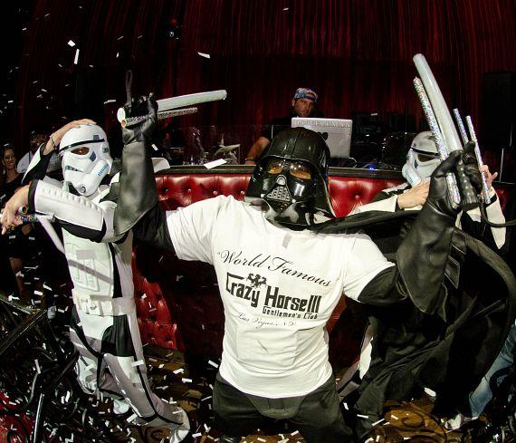 Storm Troopers & Darth Vader at LAX Nightclub