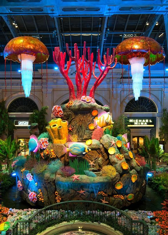 Bellagio's Conservatory & Botanical Gardens Goes Under the Sea with Striking Summer Display