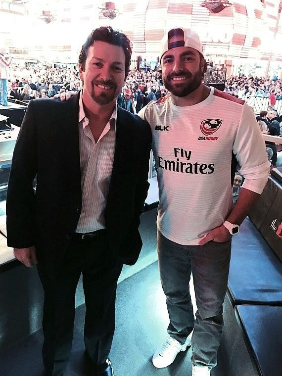 Superbowl Champ Nate Ebner NFL New England Patriots with the D Executive Richard Wilk