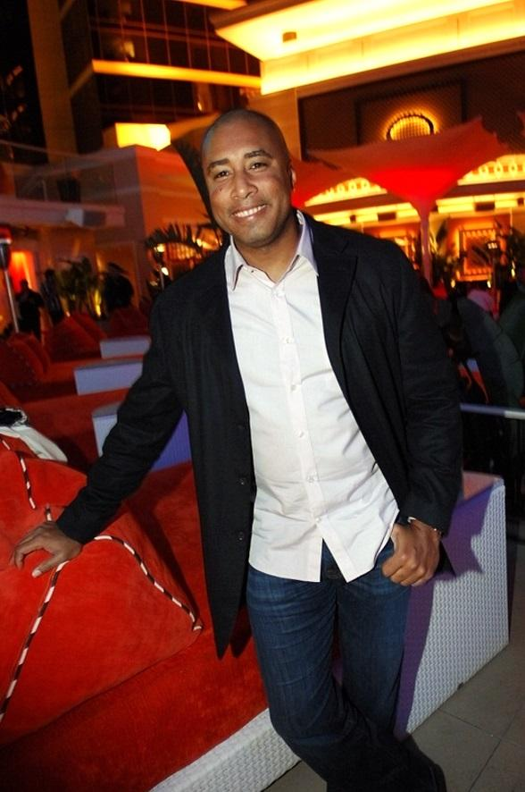 Former Yankee Bernie Williams at Surrender Nightclub