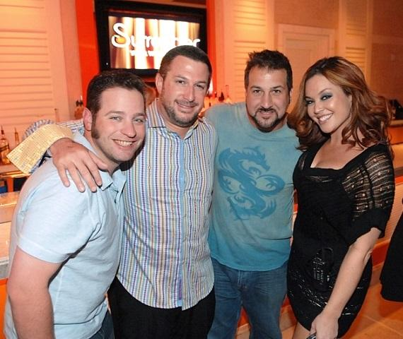Joey Fatone and friends at Surrender Nightclub