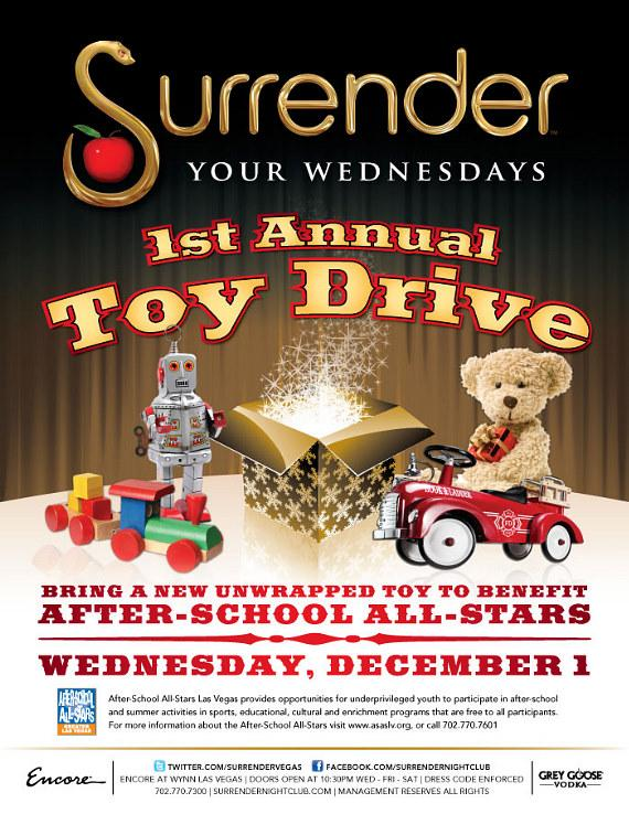 Surrender Nightclub hosts Toy Drive to Benefit The After-School All-Stars