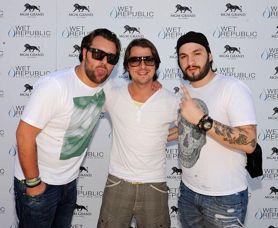 Swedish House Mafia on the carpet at WET REPUBLIC