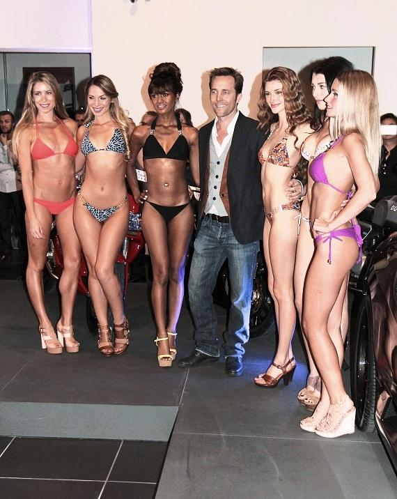 Syrup Swimwear models and designer at the Celebrity Cars Las Vegas grand opening