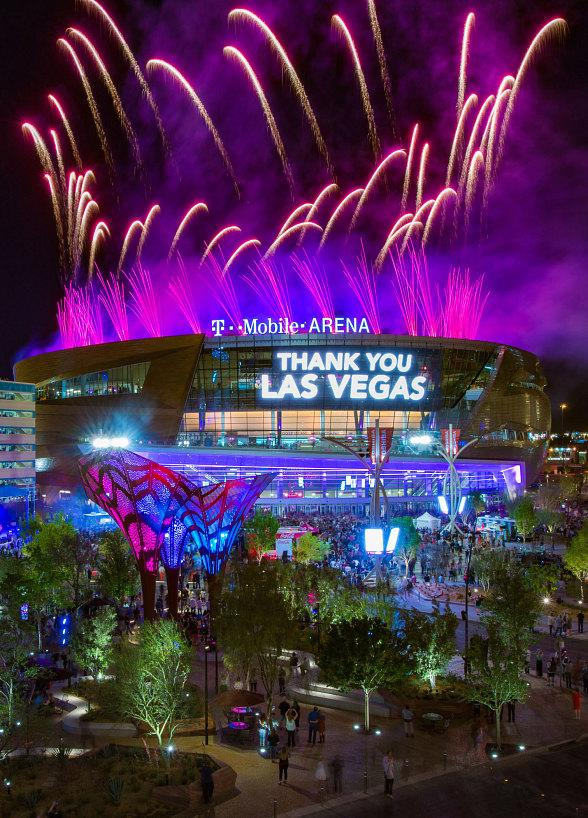T-Mobile Arena Debuts on the Las Vegas Strip with The Killers, Wayne Newton, Shamir and Blue Man Group