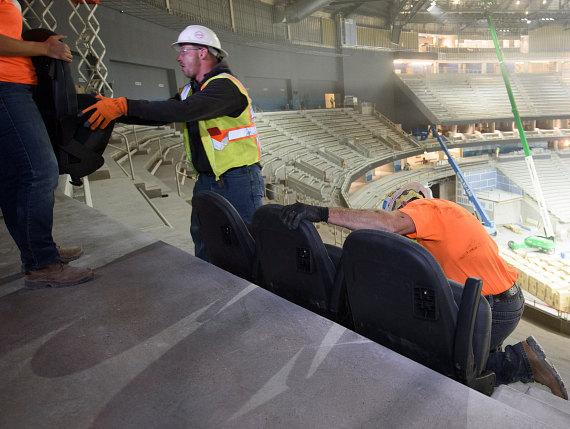 T Mobile Arena Unfolds First Seats Beginning Venue S Seat