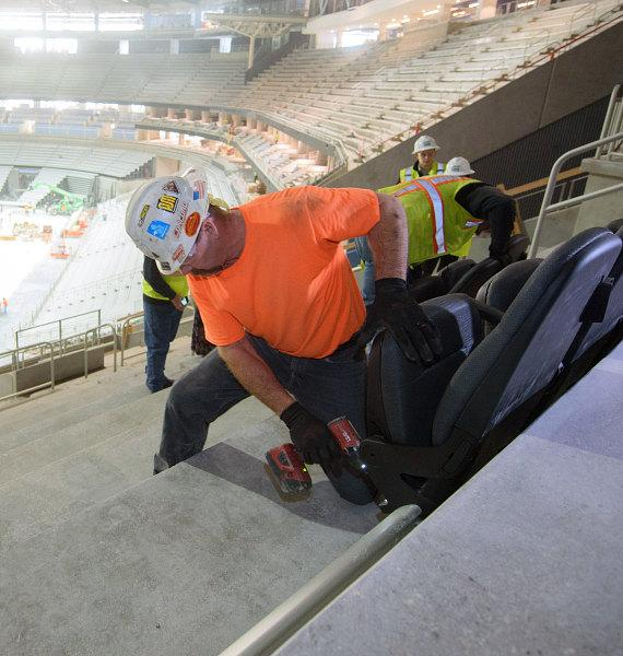 T-Mobile Arena Seat Installation