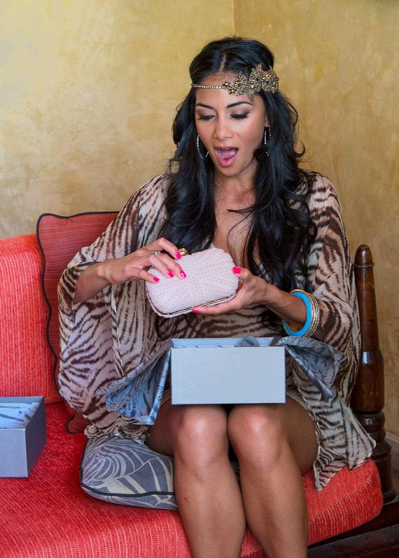 Nicole Scherzinger with Gift from Herbal Essence