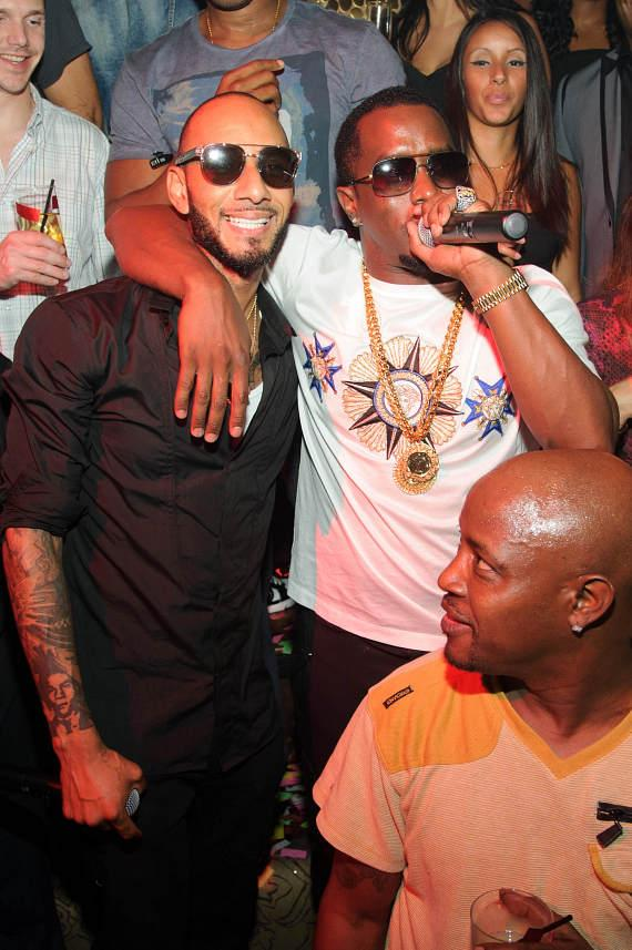 Swizz Beatz and Diddy at TAO