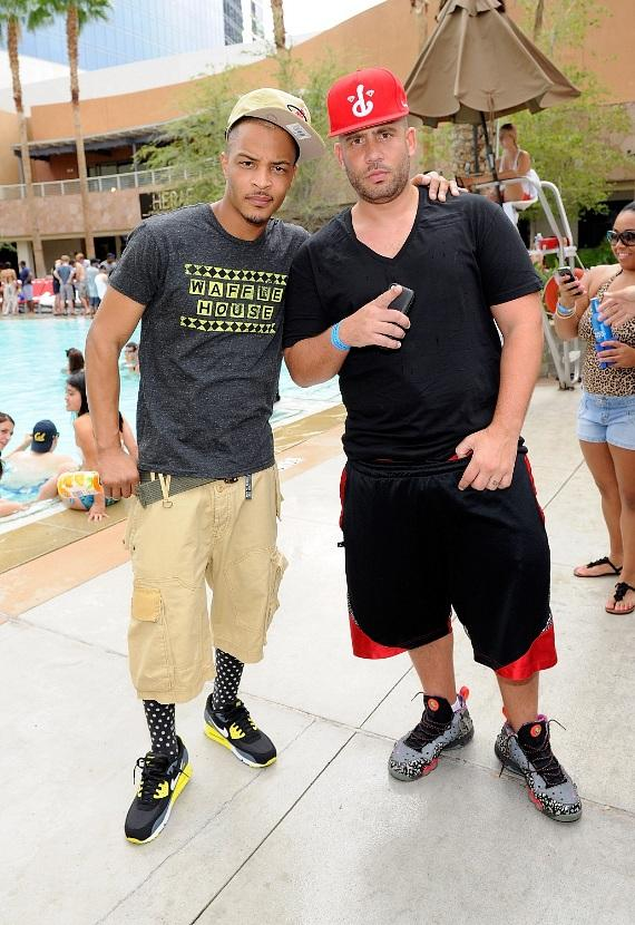 T.I. and DJ Drama arrive to Palms Pool