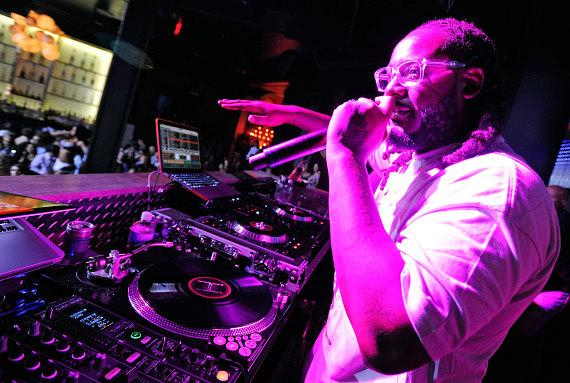 T-Pain performs a live DJ set at Chateau Nightclub & Gardens at Paris Las Vegas